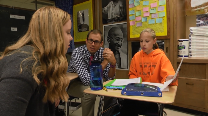 Lyons Township High School students help teachers develop formative assessments. The exercise gives students a better idea of what they are expected to learn.