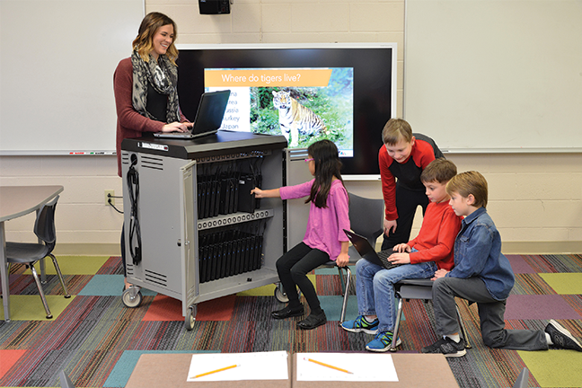 Charging and storage platforms for K12 education