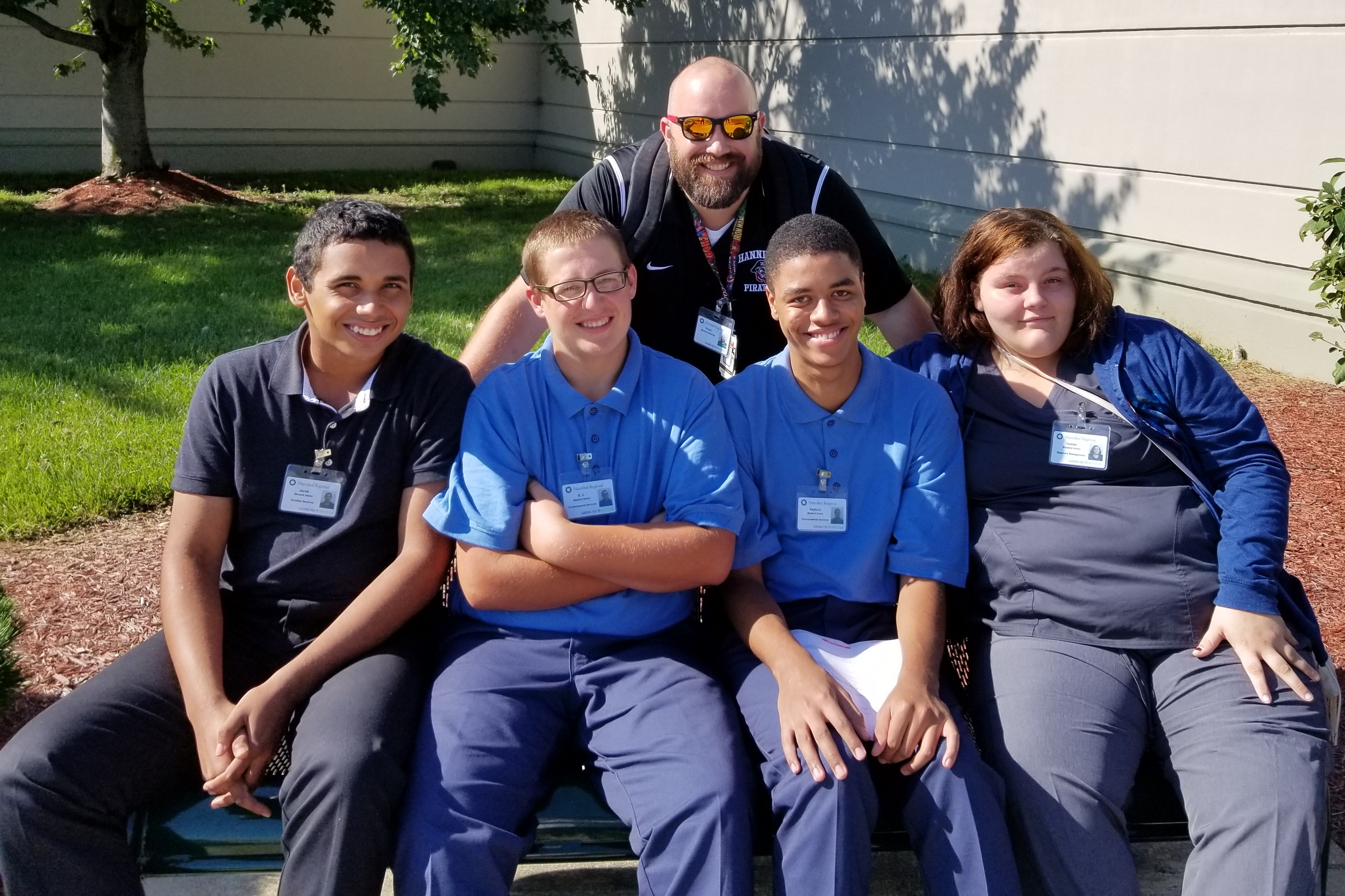 HEALTHY FUTURES IN SPECIAL EDUCATION—Hannibal Public School District's Basic Employment Skills Training program helps students with special needs learn life skills through work experience at a local hospital.