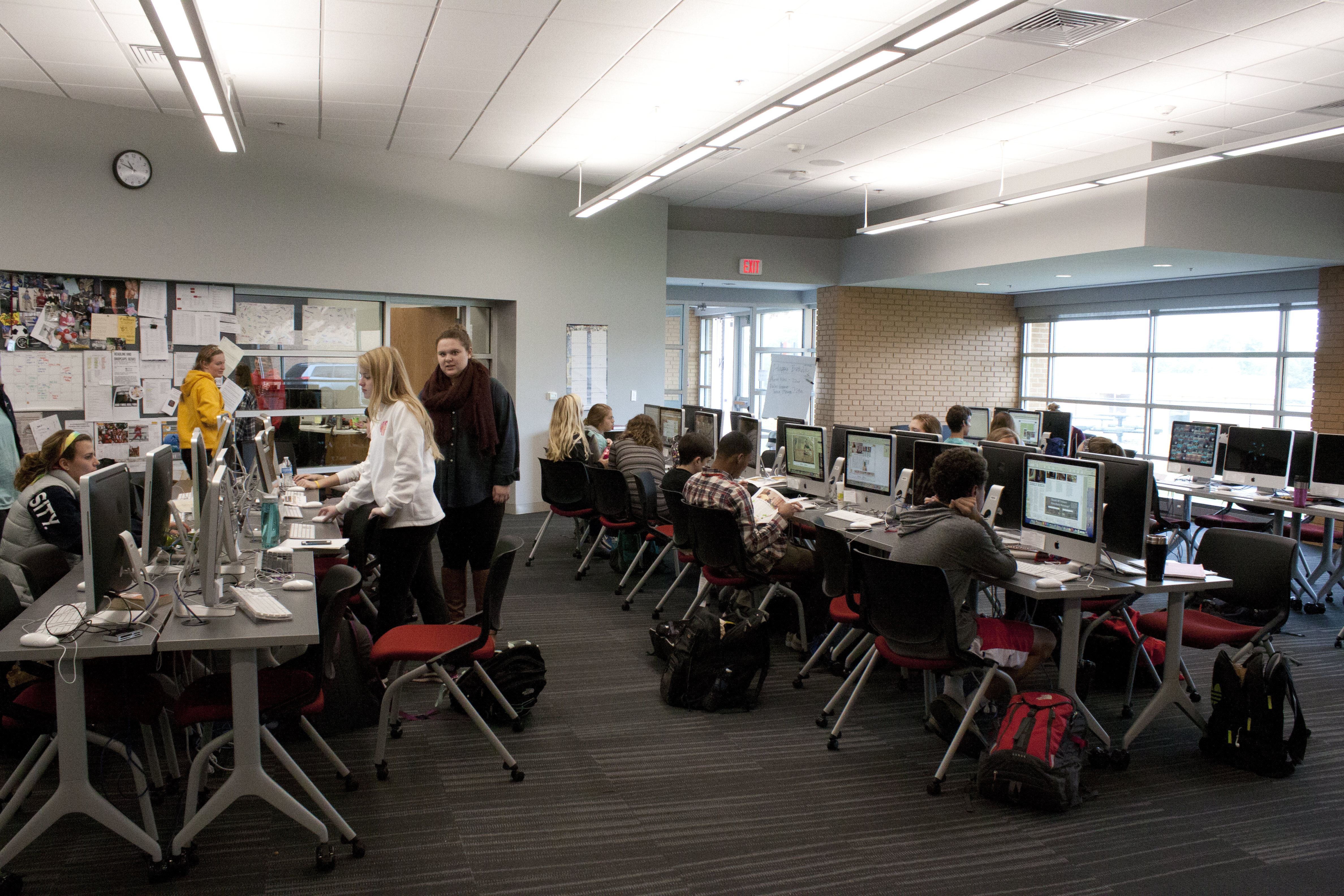Students who write news stories at Kirkwood High School have freedom. Writing without needing administrator approval on stories teaches the full scope of the First Amendment, the principal says.