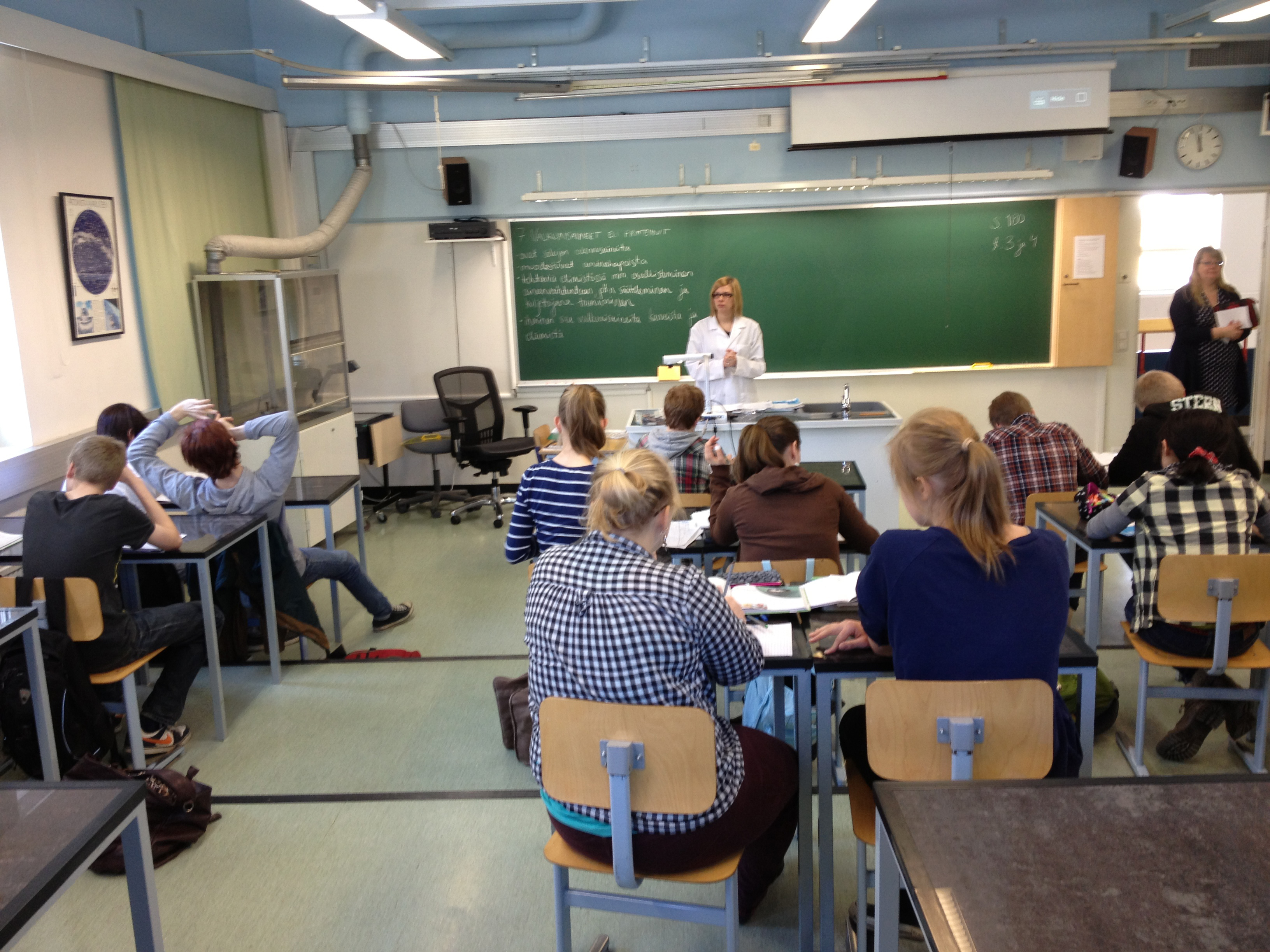 FINLAND EDUCATION—Students at this high school in Jyvaskyla, Finland, spend only about 20 hours in class per week and get less homework than their American counterparts, yet consistently post higher scores on international PISA tests. (Photo: Kevin Oliver, CC BY-NC-ND)
