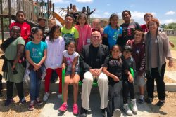 These fifth-grade students in Lemon Grove Academy in California confronted with the wicked problem of a lack of kindness in the world by creating a buddy bench. It gives students a place to sit when they are lonely and need a friend.
