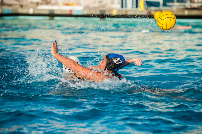 Research finds that more than a third of water polo players say they've suffered a concussion. Goalies are most at risk, with half reporting head trauma. (gettyimages.com: motionshooter)