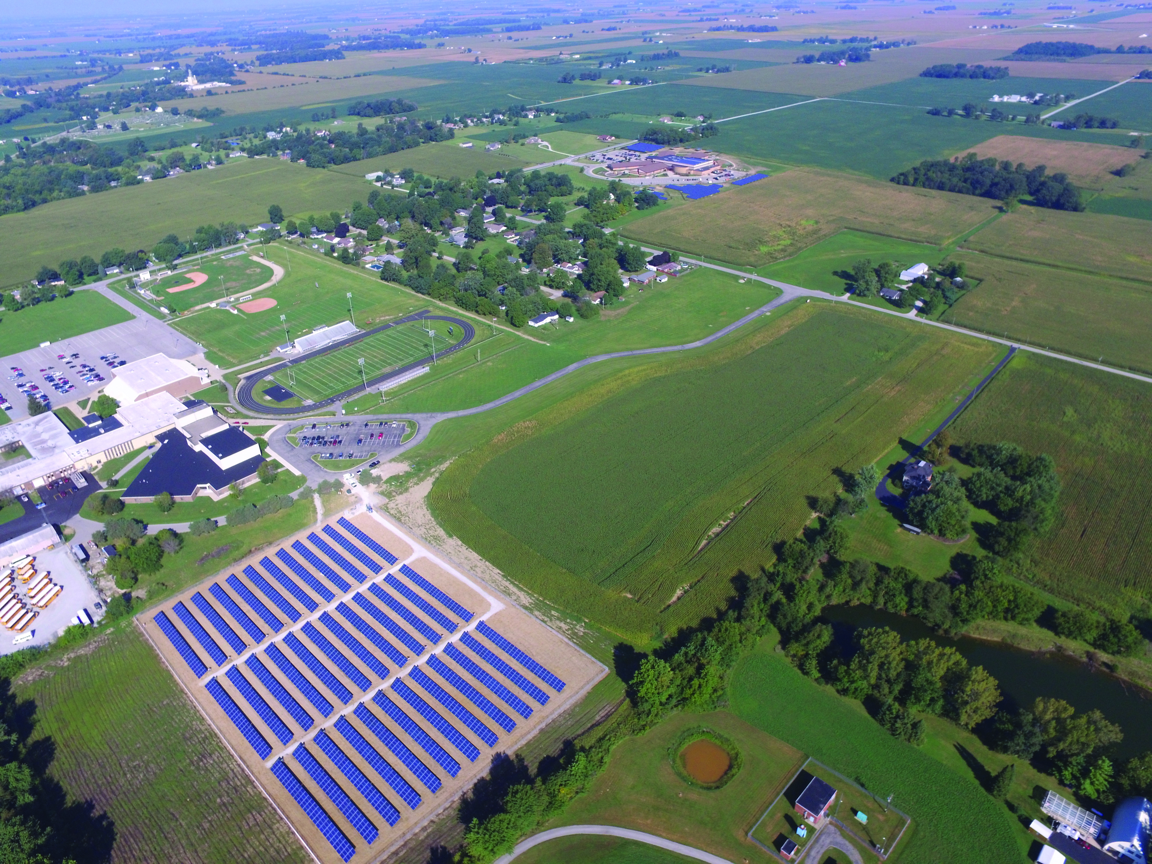 Solar financing for schools can be accomplished in a number of ways. After choosing from a list of solar power financing options, Sheridan School District installed a 1.8-megawatt system that can generate up to 2.2 million kilowatt-hours of power annually.