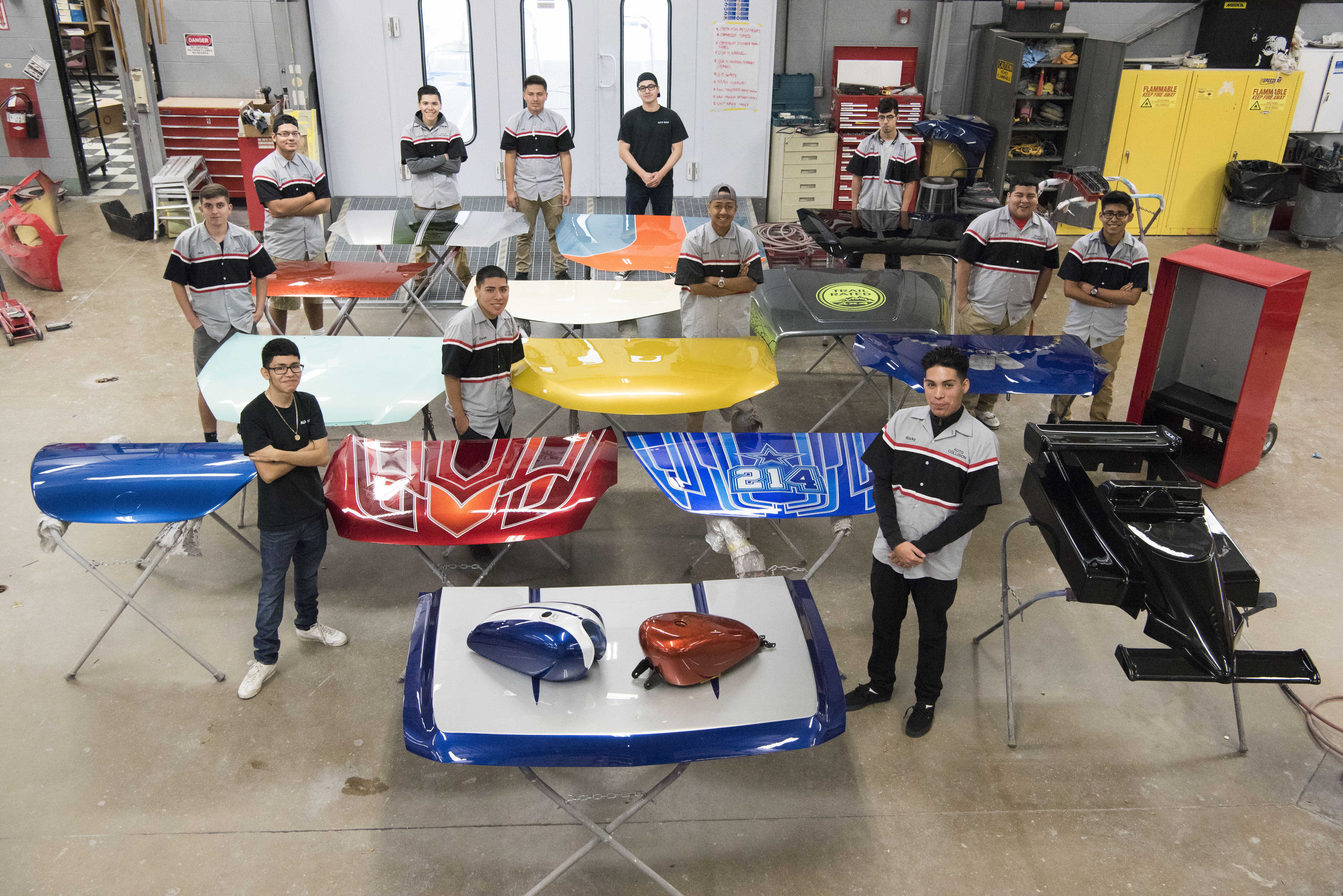 Students at Mesquite High School near Dallas raise additional funds for their automotive program by building and auctioning off Cobra kit cars to community members.