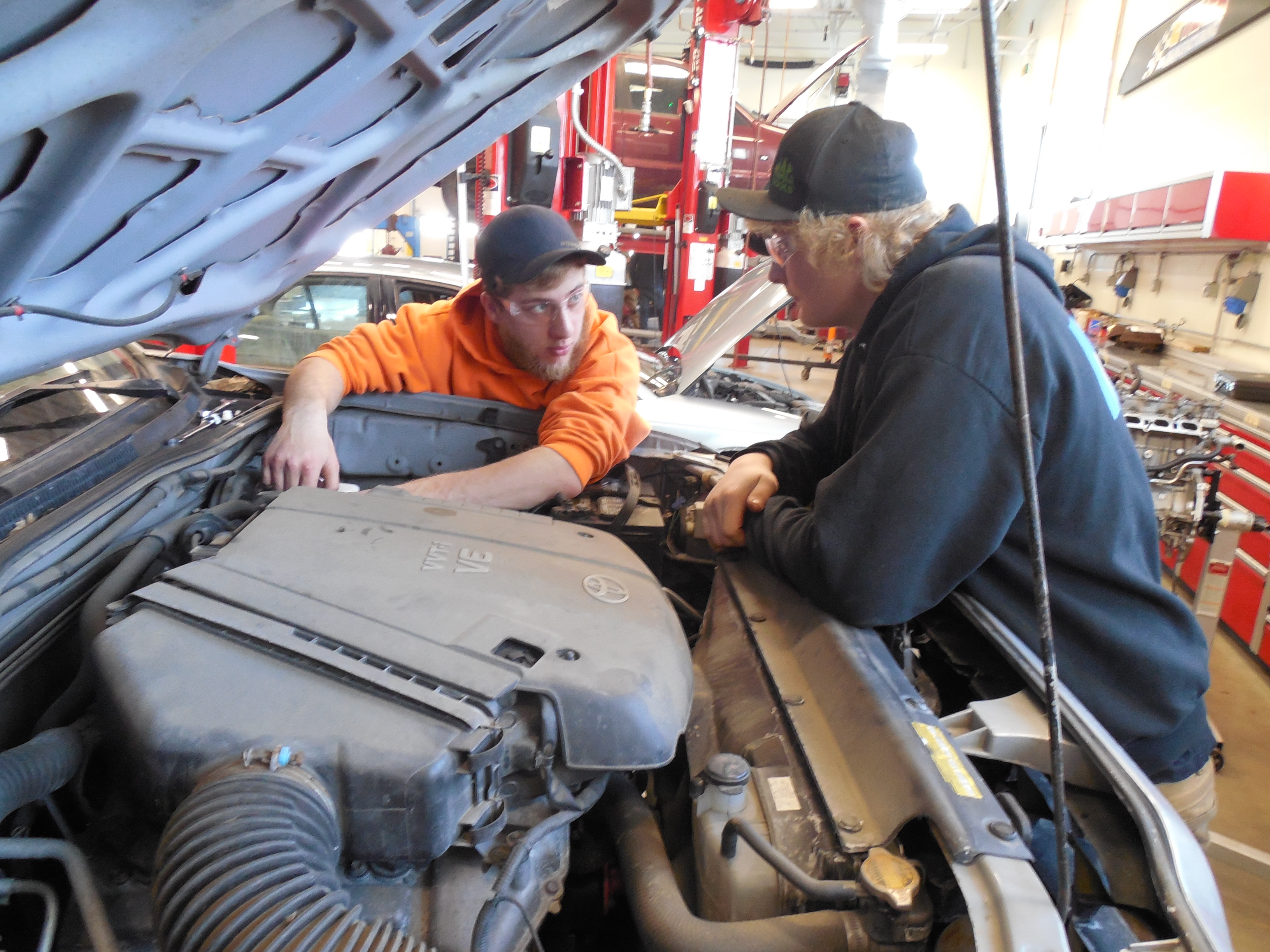 Automotive students in Wisconsin's Wausau School District (below) benefit from a close relationship with local industry that allows them to participate in apprenticeships.