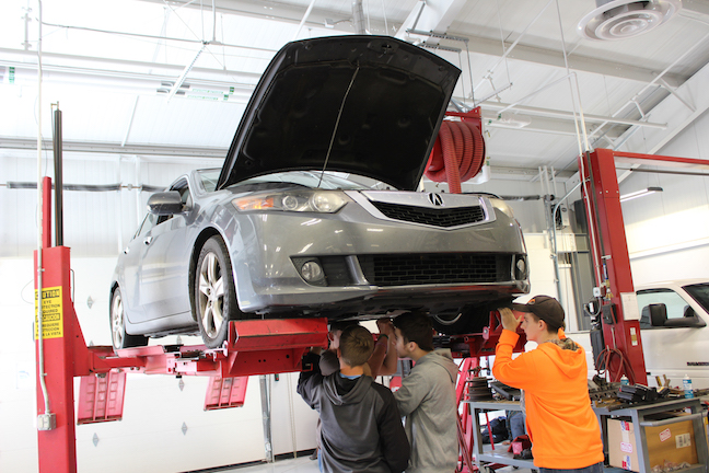 Demand for the automotive program at Sussex Technical School District in Delaware is surging. Advanced technology means these future mechanics also have to become IT troubleshooting specialists.