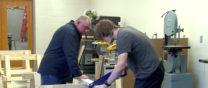 Hamilton Heights High School's State Earn and Learn Program was developed through a partnership with the Indiana Construction Roundtable Foundation.