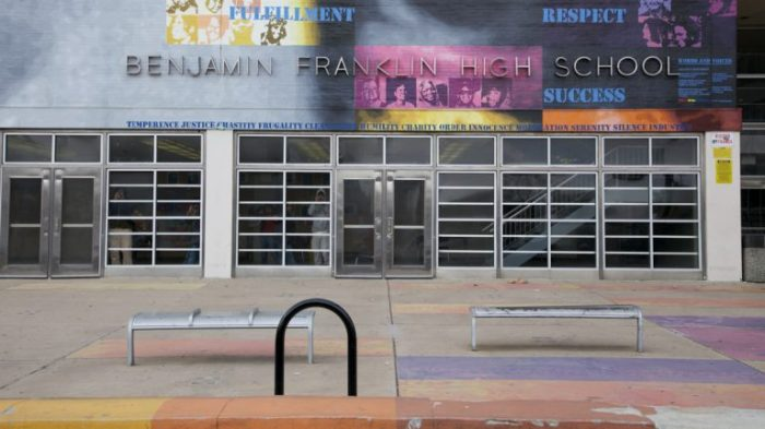 Benjamin Franklin High School is one of the Philadelphia district schools that had to be closed for asbestos.