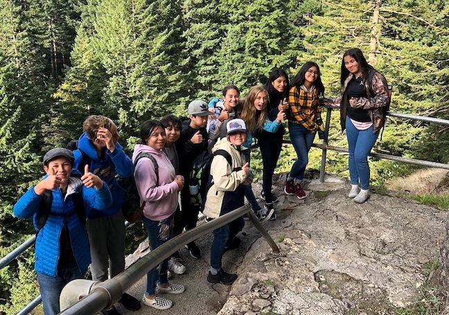 Students at Oregon's Hood River Middle School take placed-based learning electives in which they mountain bike, windsurf and explore the region's gorges.