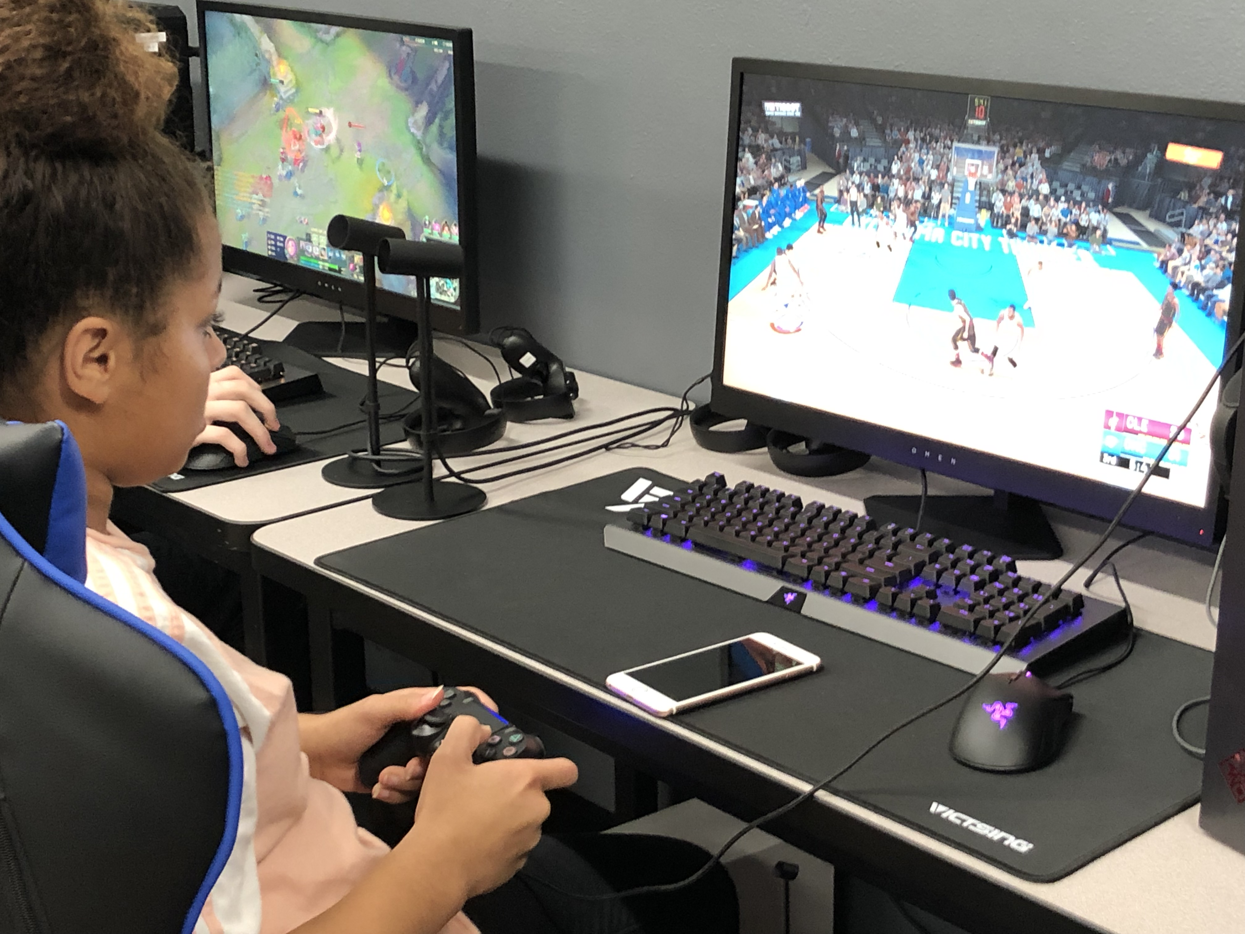 Students playing and studying esports can use screen time in a productive way at Tipton High School in Indiana.