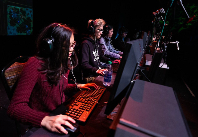 Student gamers compete in the inaugural season of Virginia's high school esports league. About 40 schools have joined, going head to head in the games League of Legends, Rocket League and Smite.