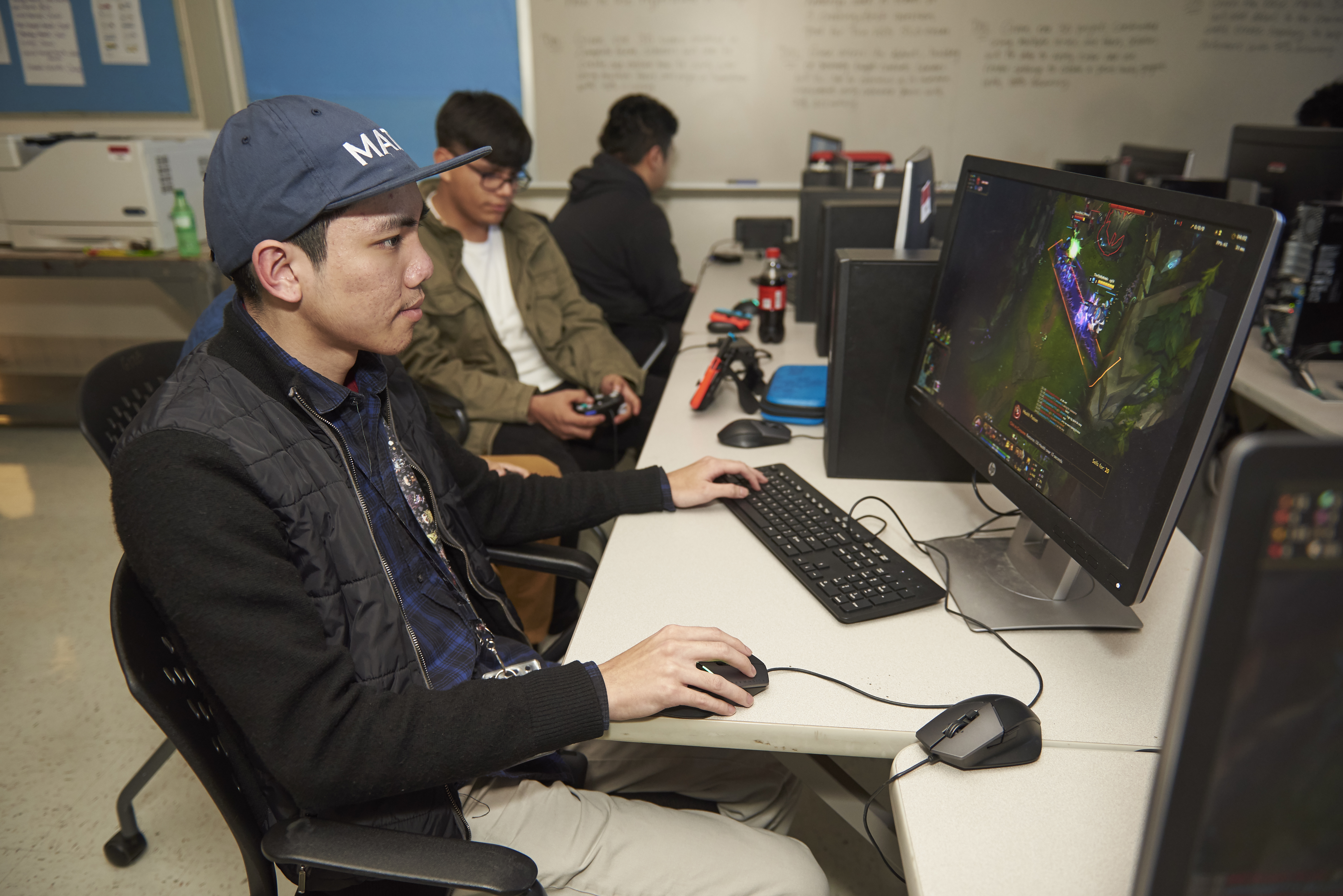 Another Skyline High School student plays esports. Dallas ISD plans to organize tournaments for its school to compete against one another.