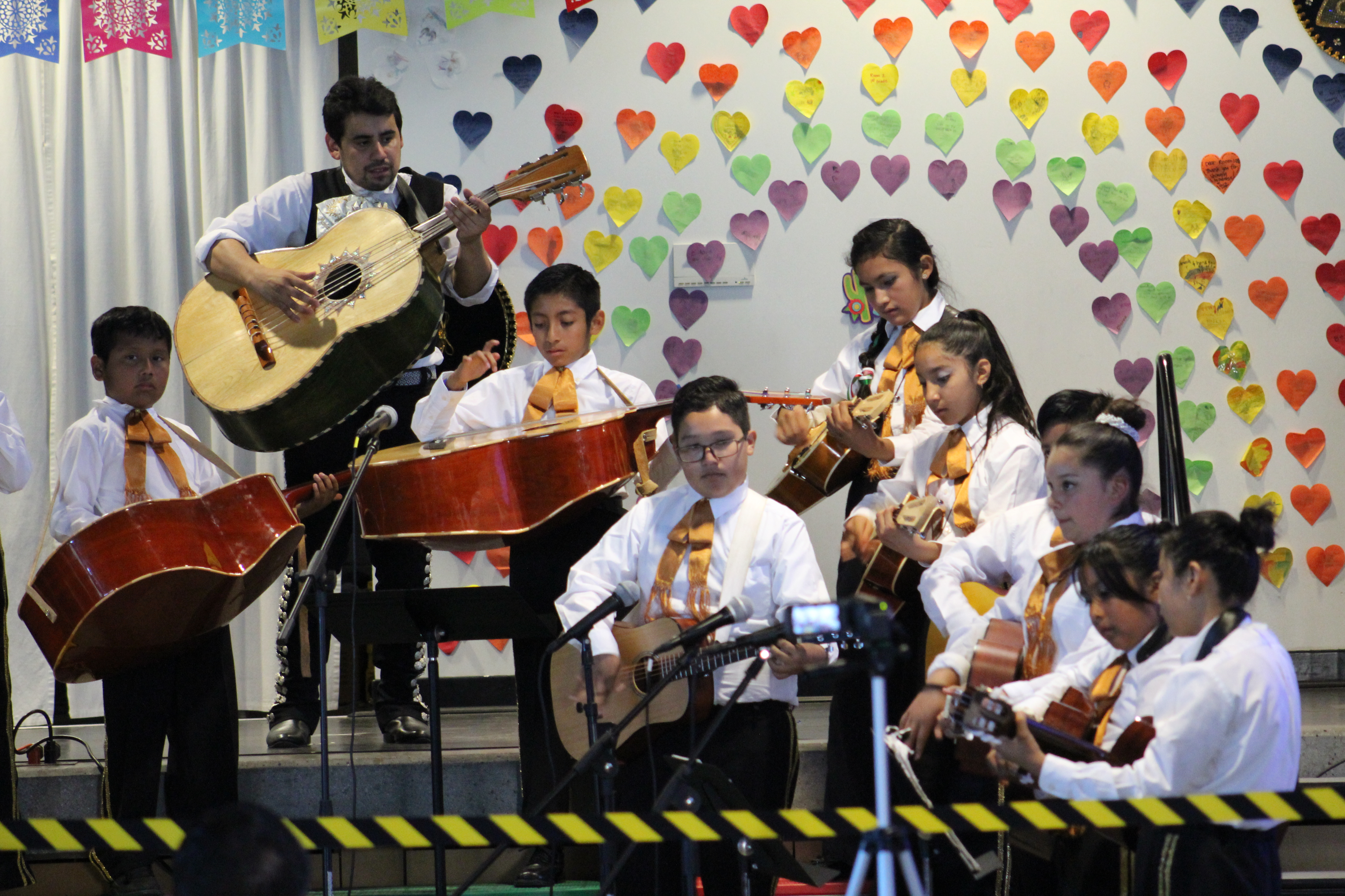 In addition to the daily required study of music, students can choose from electives such as rock band, hand bell choir, Latin percussion and mariachi band.