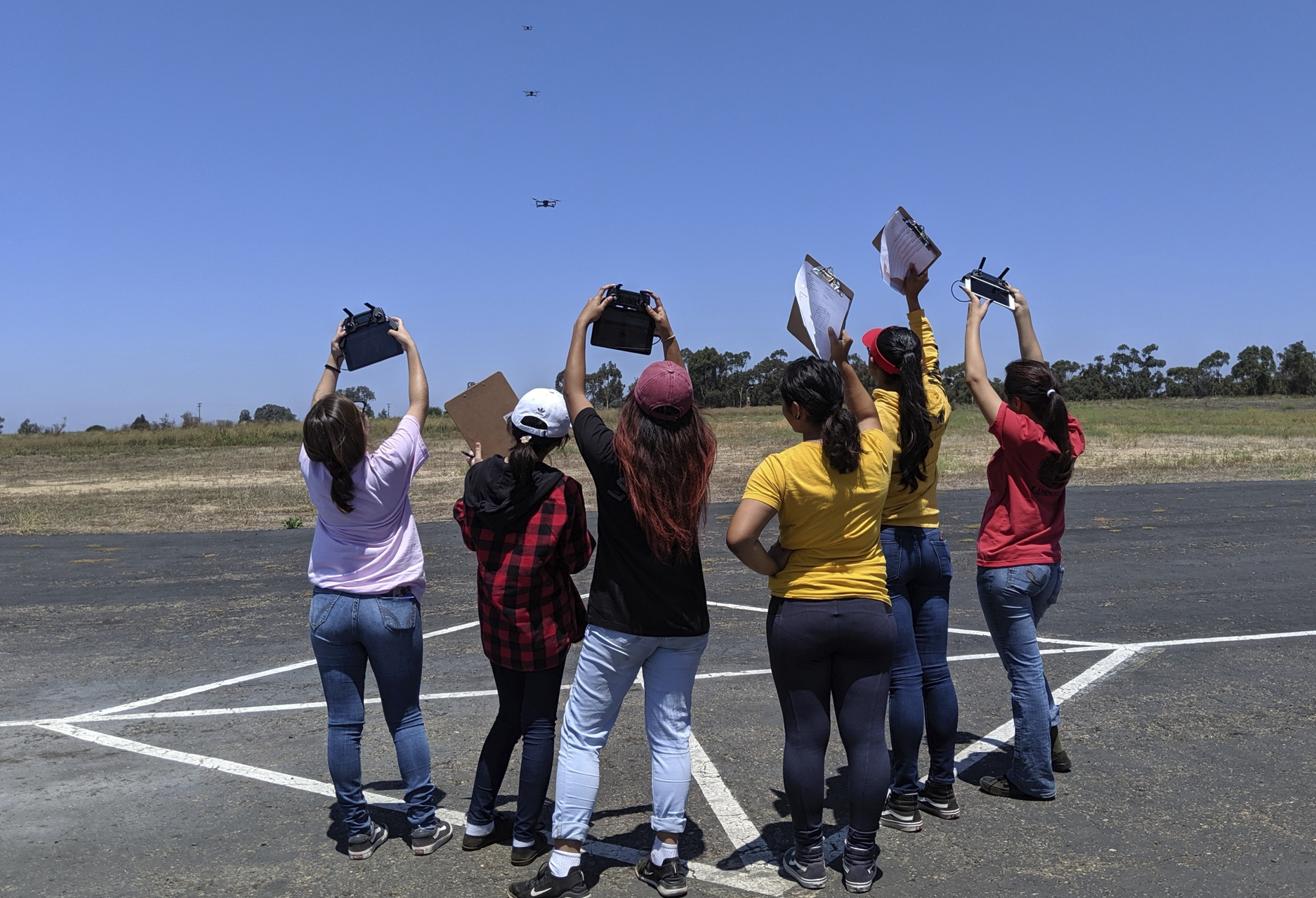 In addition to gaining FAA certification, the Girls Take Flight program has helped young women build the self-confidence to connect with other students who have similar aeronautical engineering career ambitions.