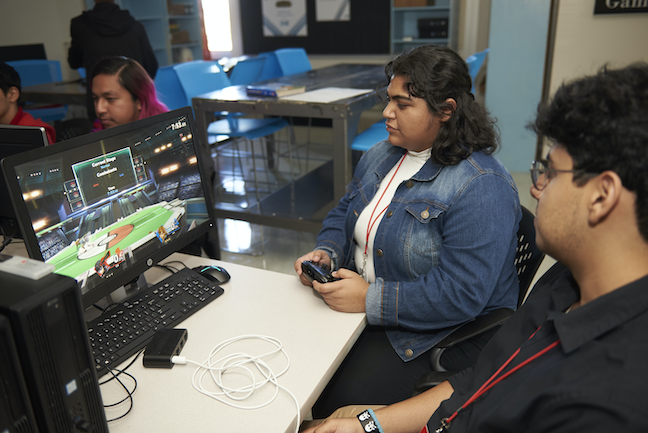 How to start a high school esports team. Get students, such as these gamers at Dallas ISD's Skyline High School, involved in all aspects of the program.