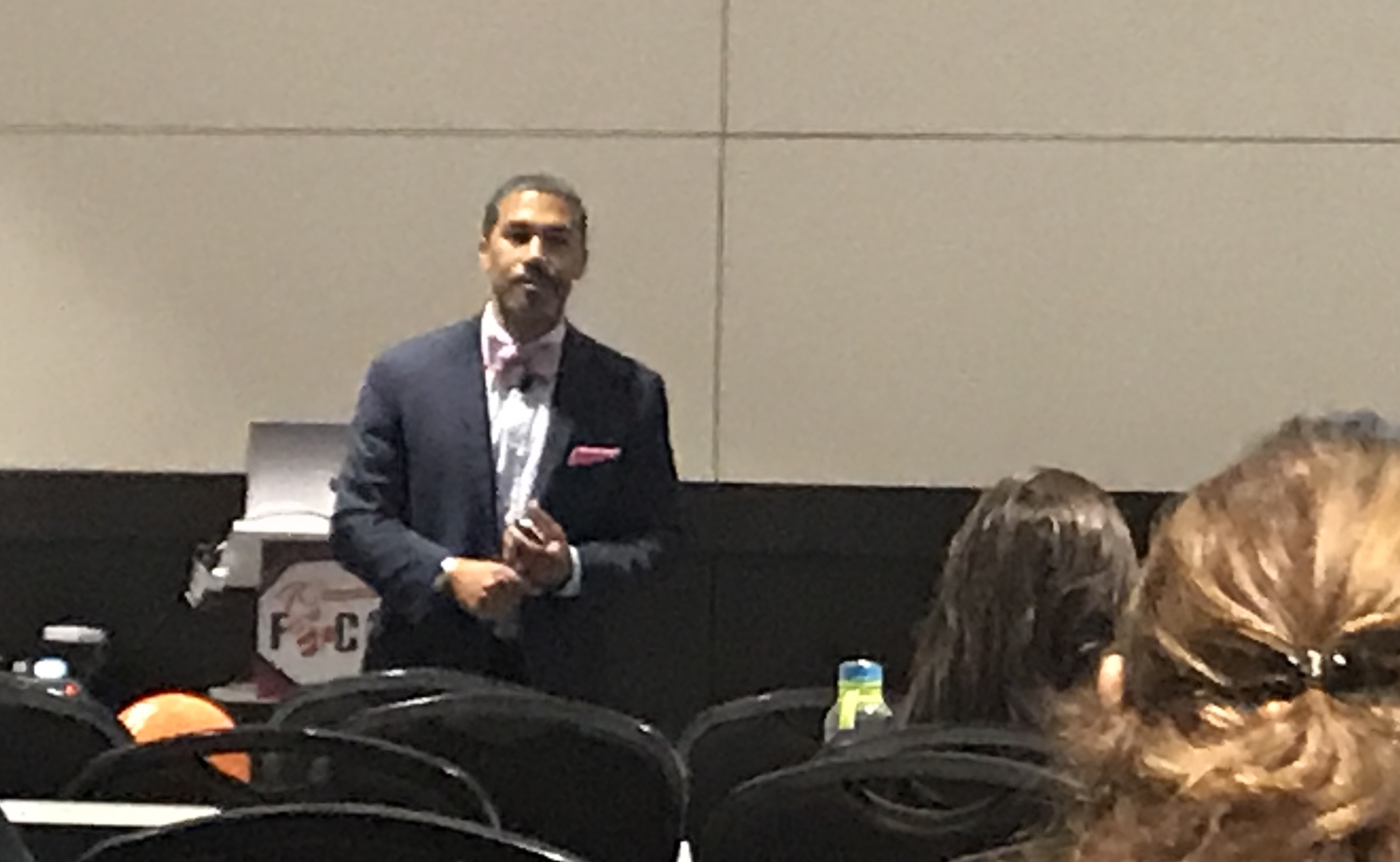 """Dwight Carter of the Eastland Career Center in Ohio presented """"Tips for Teaching Generation Z."""""""