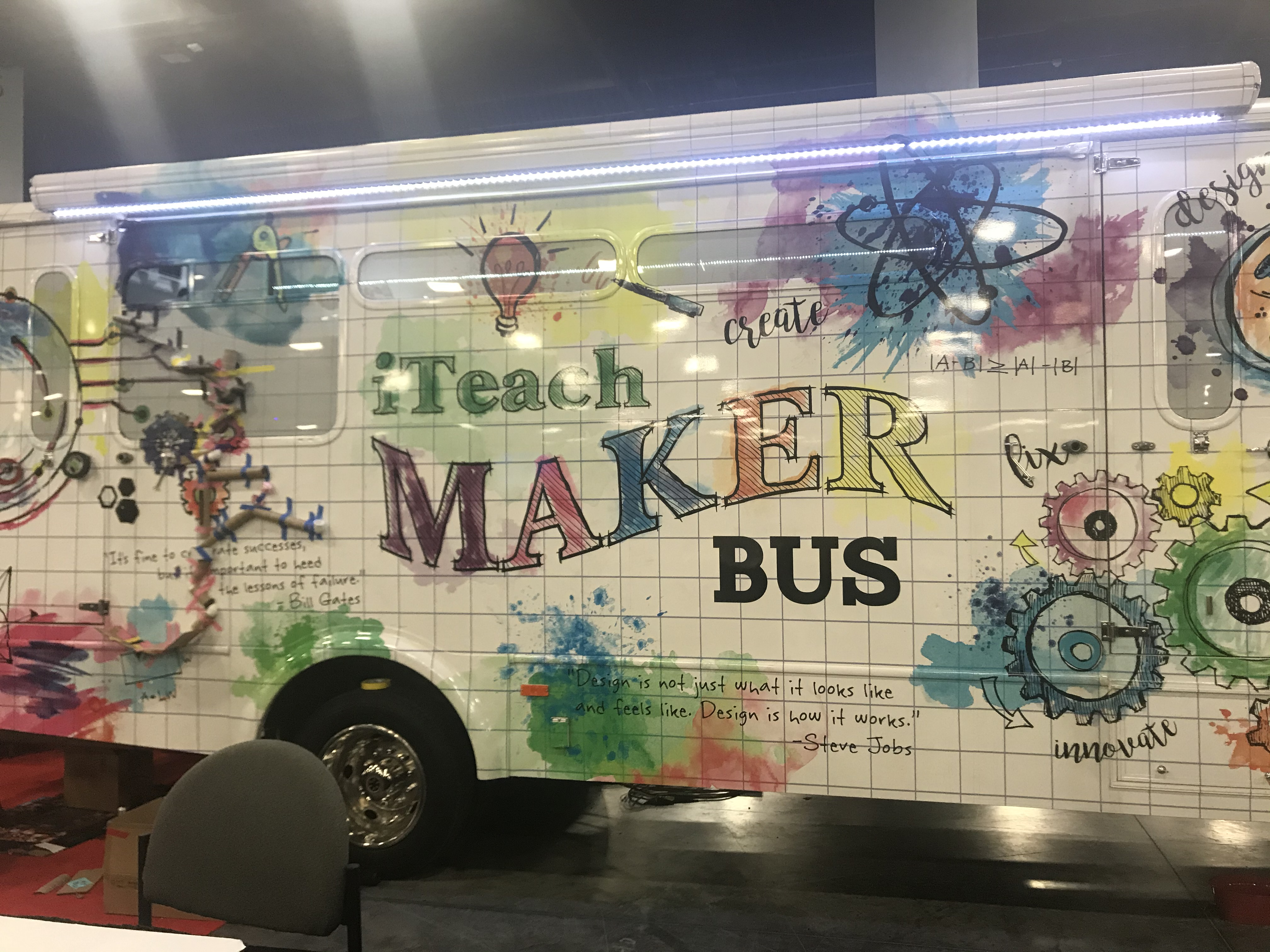 The iTeach MakerBus helps educators and students spark the pursuit of passions and ignite a desire to have a lasting impact on their communities.