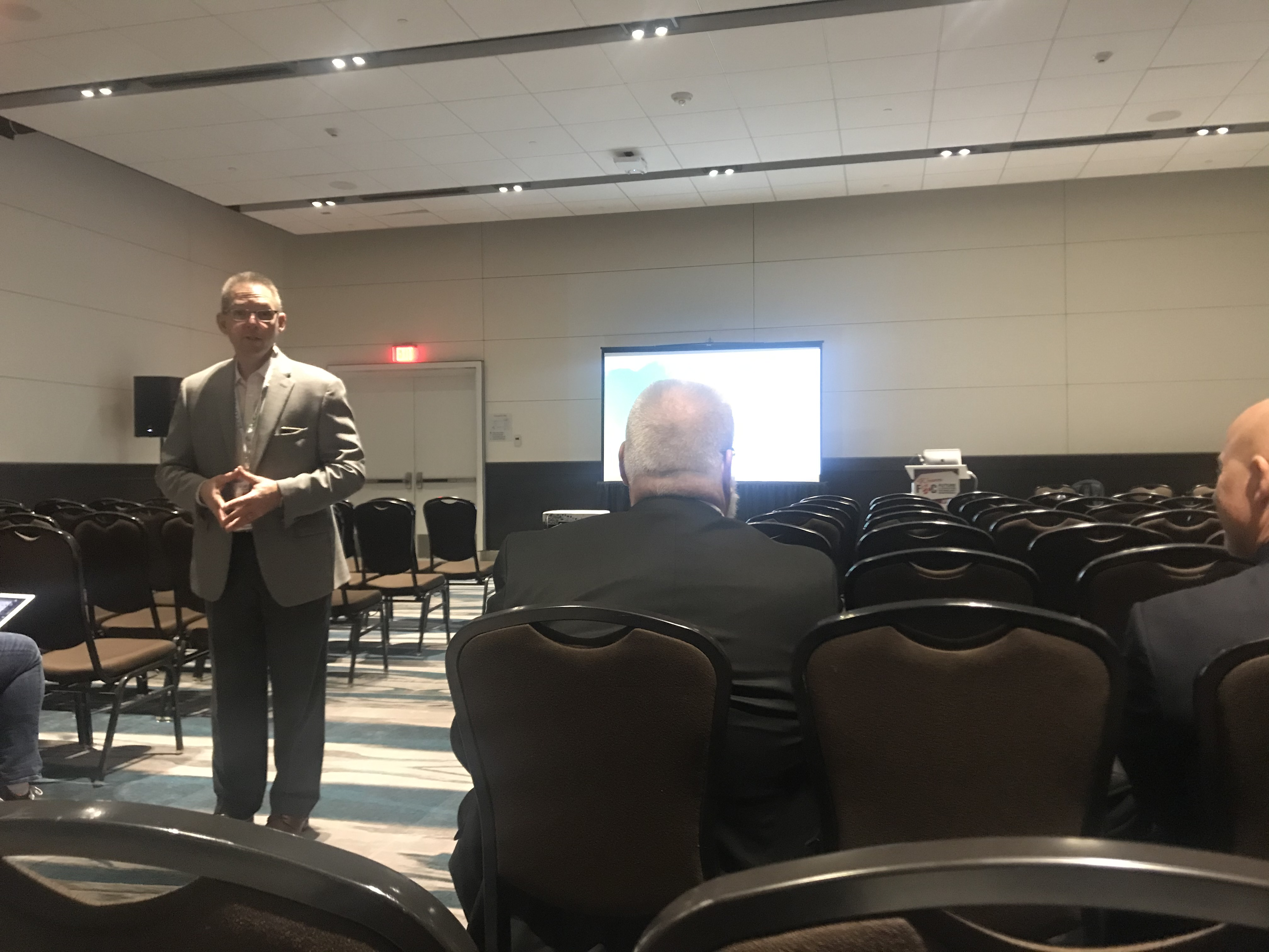 Gregory Firn spoke on the intersection of innovation and impact, including special considerations for access and equity.