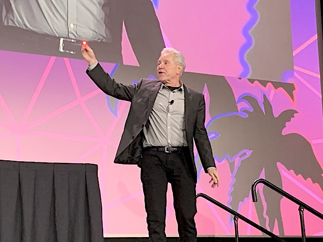 """Can Hall Davidson throw and catch light particles? Not really, but he and the regular panel of ed tech experts reveal a range of pretty cool classroom tools at Thursday's """"TechSHARE LIVE Keynote."""""""
