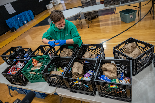 Berea College in Kentucky is feeding local school district students during the coronavirus closure.