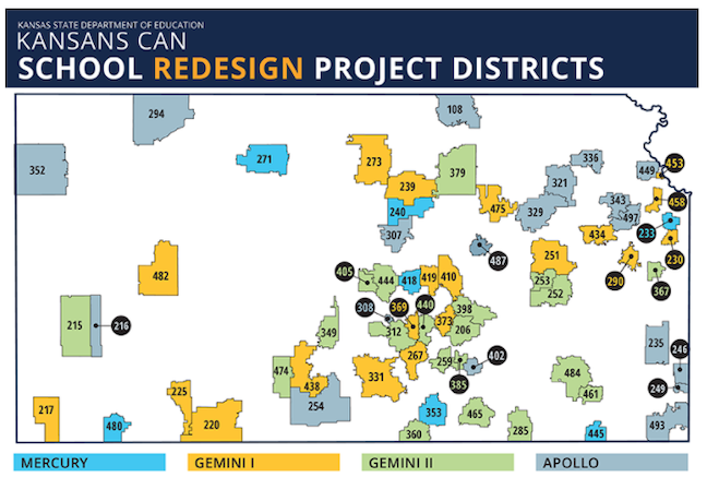 The Kansans Can school redesign project has been recruiting districts in cohorts in a statewide effort to focus on personalized learning and soft skill. (Screen shot/Kansas Department of Education)