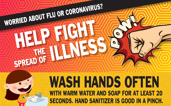 Students are getting tips on how to fight coronavirus and COVID-19 from these posters created for schools by the Snohomish Health District in Washington.