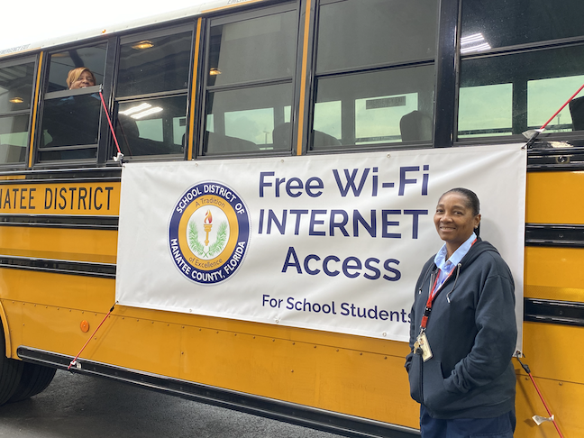 The School District Of Manatee County has boosted digital equity by equipping 25 school buses with broadband WiFi to provide access during and beyond the coronavirus crisis.