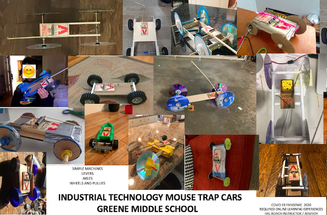 Career and technical education students in Palo Alto USD used recycled materials to build vehicles during distance learning.