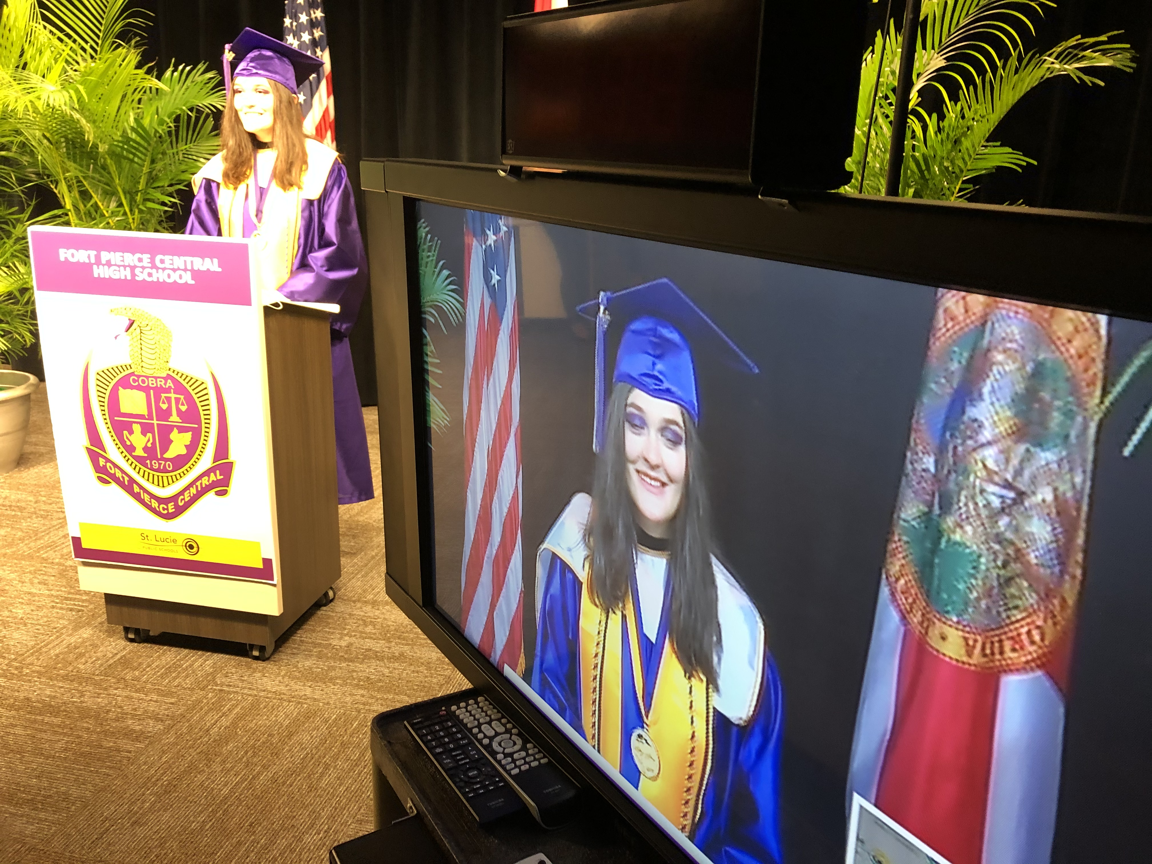 A preview of what Fort Pierce Central High School's virtual graduation will look like.