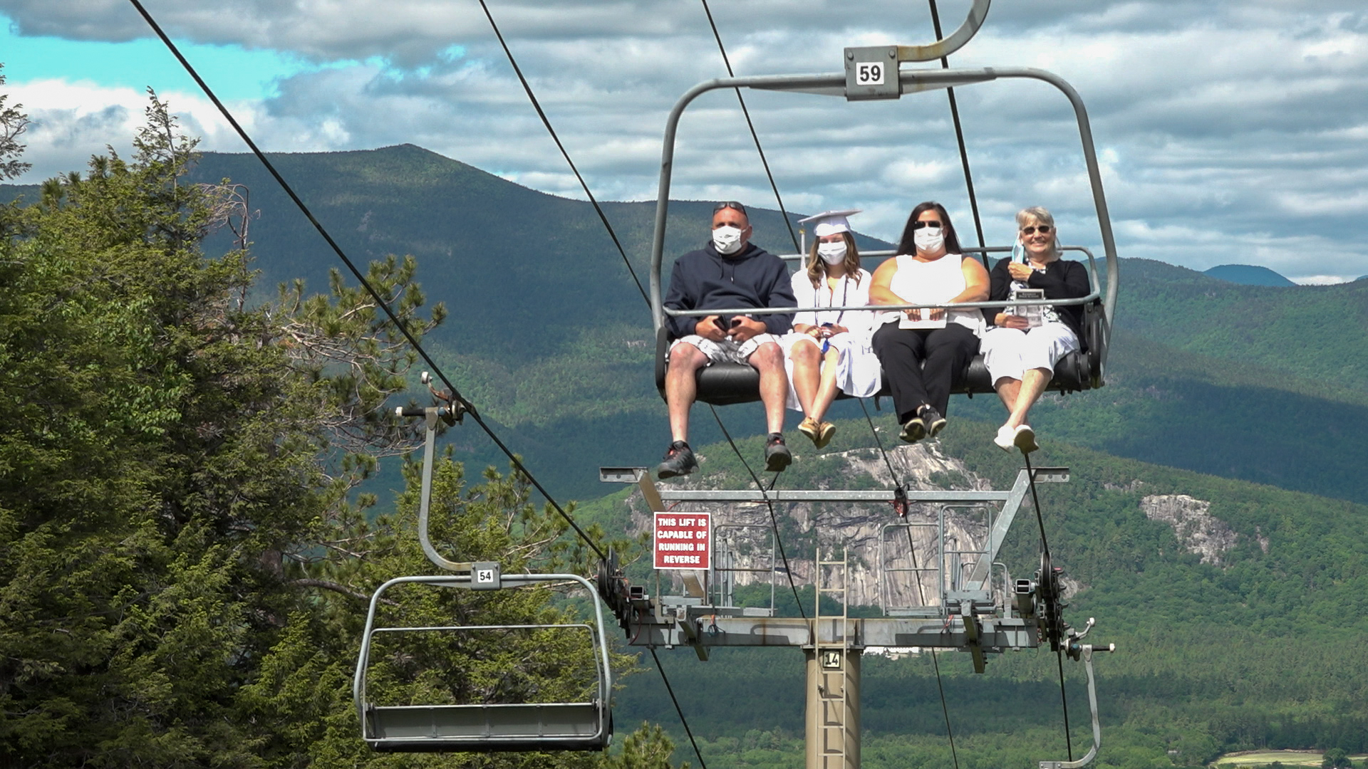 When planning graduation, Kennett High School came up with creating a ski lift graduation at Cranmore Mountain resort.