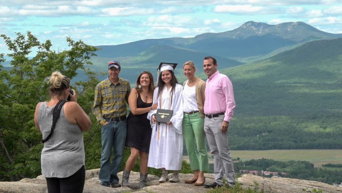 When planning graduation,Kennett High School came up with creating a ski lift graduation atCranmore Mountain resort.