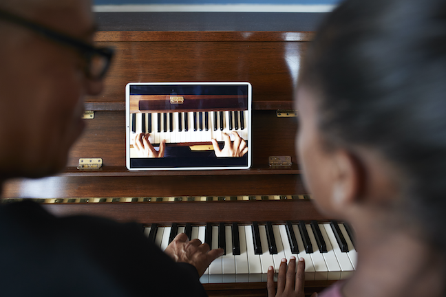 "As far as instructional technology is music classes, the iPad is the newest instrument students and teachers are learning to ""play."" (GettyImages/ Klaus Vedfelt)"