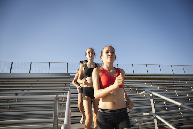 Districts are restarting school sports activities with safety measures such as limiting the size of groups, temperature checks and keeping locker rooms closed. (GettyImages.com/Sarah Casillas)