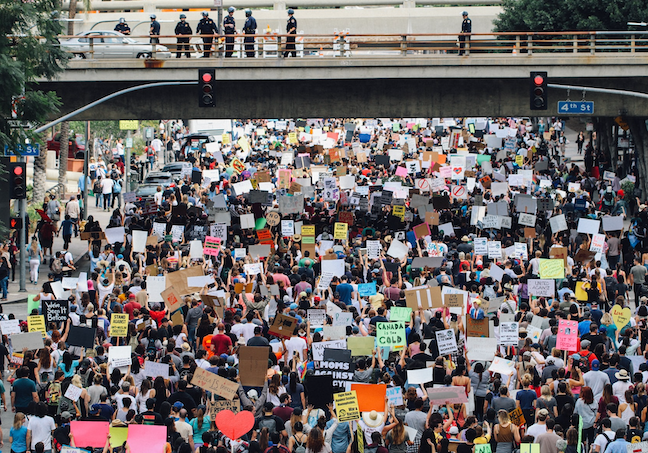 Teachers, even in schools that have closed for the year, are reaching out to students to discuss the protests over George Floyd's death and issues of racism and social justice. (Alex Radelich/Unsplash)