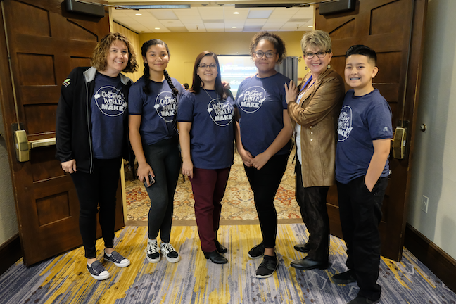 Superintendent Lily Matos DeBlieux mentors middle schoolers as they develop their voice as member of the Superintendent's 8th Grade Council in Arizona's Pendergast Elementary School District.