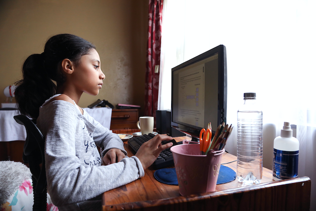 Superintendents and school boards in several large districts have opted to continue with online learning until the summer COVID surge is under control. (GettyImages/Petri Oeschger)