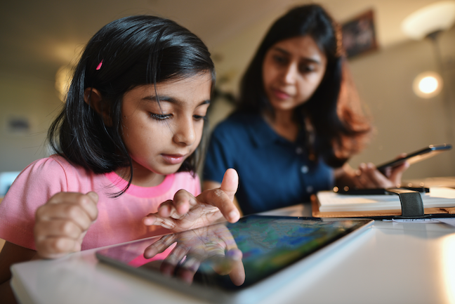 California districts in COVID hotspots must start the school year with online learning while Texas school systems now have more flexibility to continue with remote instruction. (GettyImages/Mayur Kakade)