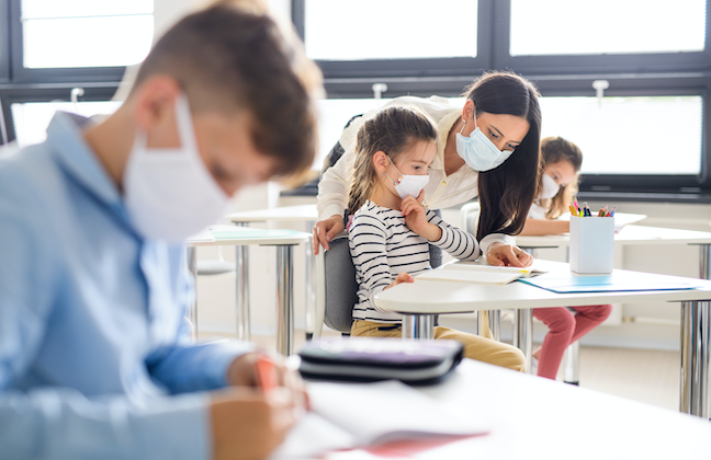 The Florida Education Association has sued the state, saying the push to reopen school classrooms hinders districts' ability to plan for hybrid instruction. (GettyImages/Halfpoint)
