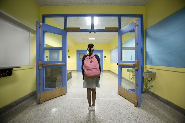 Students want to have more voice in developing school safety policies, according to a survey by the ACT testing organization. (GettyImages/Jonathan Kirn)