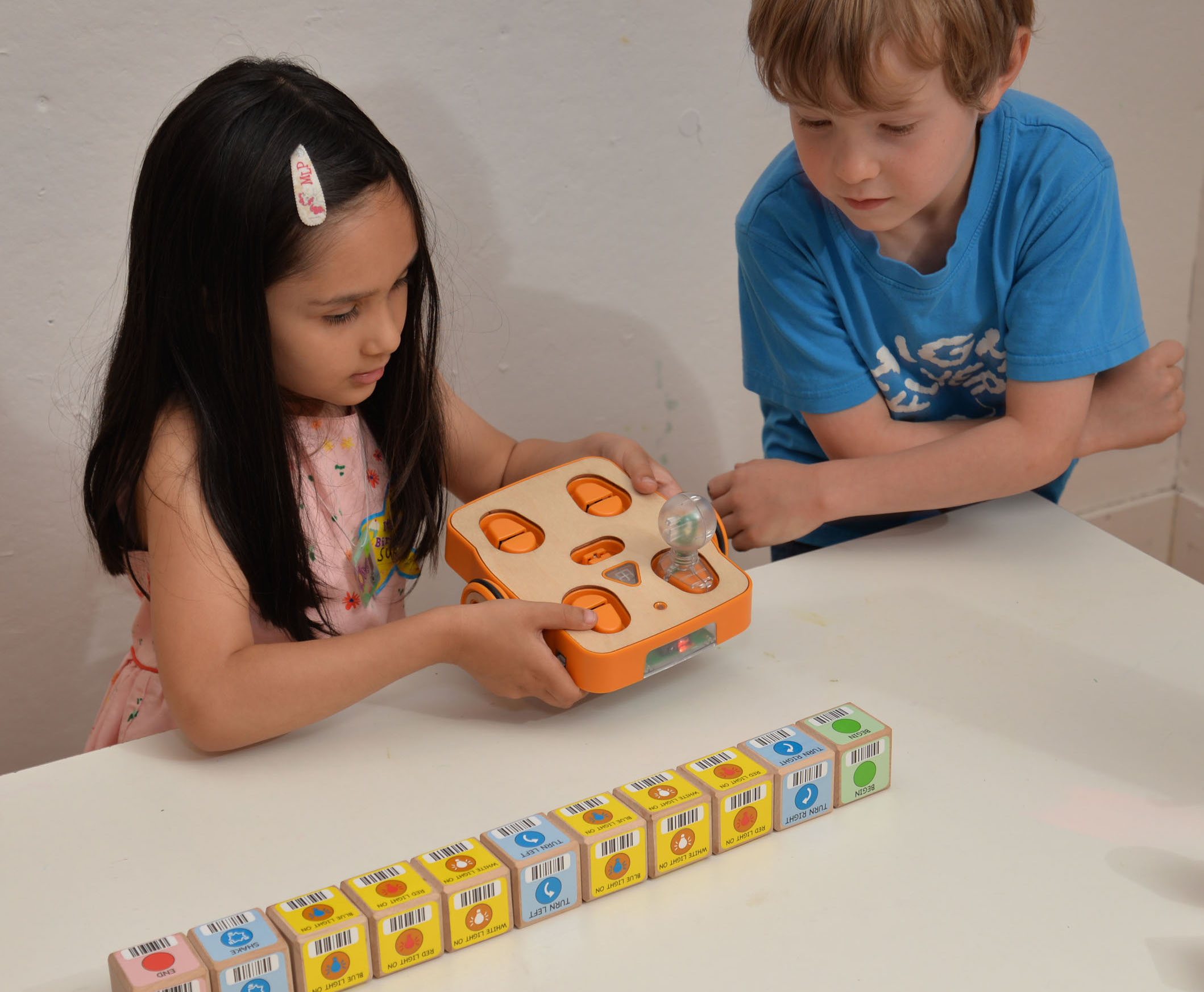 Click the photo to learn more about KinderLab's KIBO robot.