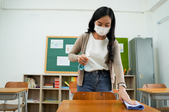 Nearly three-quarters of teachers surveyed considered leaving the profession during COVID but60% said their outlook is improved for he 2021-2022 school year. (AdobeStock/twinsterphoto)