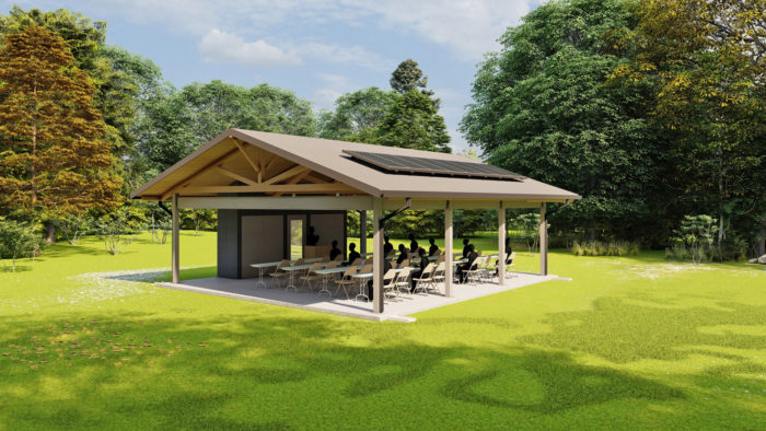 Rendering of a TVA solar pavilion that serves as an outdoor classroom. (Tennessee Valley Authority)